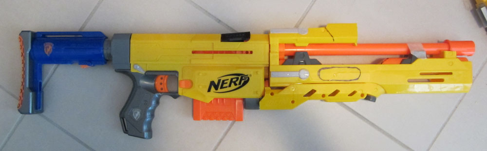 Nerf Aliens Pulse Rifle Build